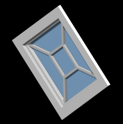 Diamond Window - Muntin Style No. 1